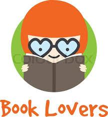 vector funny cartoon in gles logotype book logo stock vector colourbox