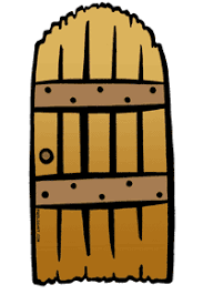old brown door clipart 1