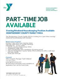 part time job available montgomery county y news ymca property manager todd gilleland 712 623 2161 propmgr mcymca com all interested individuals must complete an application form at the front desk