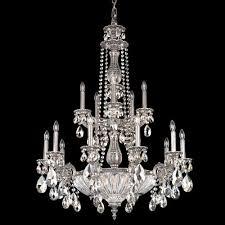 schonbek 5694 milano 19lt coloured swarovski crystal ceiling chandelier