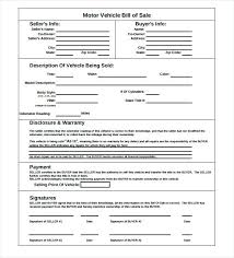 Basic Car Bill Of Sale Form Simple Printable For Legal – Onbo Tenan