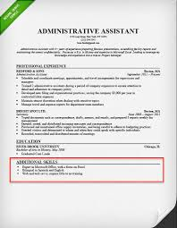 Admin Assistant Resume Skills Section Example For Unique Templates