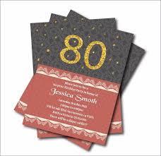 20 Pcs Lot 80th Birthday Invitations Adult 30th 40th 50th 60th 70th