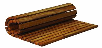 roll up teak mat