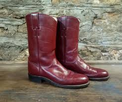 maroon justin roper cowboy boots size 6