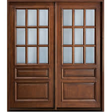 glass panel double door