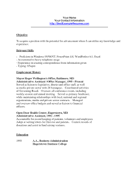 Clerical Resume Template Free Resume Templates