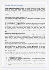 paper i communication assignment 21 nimcj interpersonal communication interpersonal