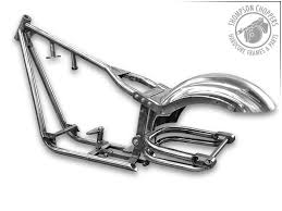 custom chopper and motorcycle frames