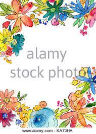 Vous pouvez envoyer la carte d'invitation finie à vos amis et distribuer. Aquarelle Fleur Cadre Illustration Avec Copie Vierge Espace Au Milieu Peut Etre Utilise Comme Carte D Invitation Pour Mariage Anniversaire Et Autres Vacances Ou Ce Photo Stock Alamy
