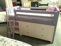 milano junior loft bed with dresser and bookshelf