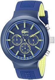 lacoste men s 2010797 borneo blue chronograph watch men fashion now lacoste men s 2010797 borneo blue chronograph watch