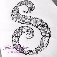 Small Picture Digital Coloring Page Letter S from Letter Doodles Coloring