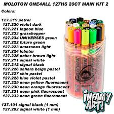 Molotow One4all Color Chart Molotow One4all 127 Hs Paint Markers 20 Count Main Kit 2