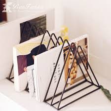 Living Room Magazine Holder New Simple Metal Triangle Newspaper Rack Book Shelf Magazine Rack Living