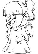 Small Picture Cute Angel Girl coloring page Free Printable Coloring Pages