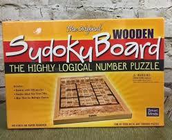 Sudoku Board Game Wooden Original Sudoku Wooden Board Numbers Game in Shrinkwrap Smart 87