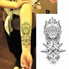 мужские временные татуировки на плече с нижней рукой переводные