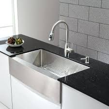 36 inch kitchen sink stainless steel 7 8 single basin gauge for farmhouse installations with a