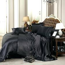 black bedding queen custom made luxury sets solid satin 4 king size home bedclothes bed linen