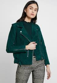 sfsanella jacket leather jacket mallard green