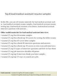 Medical Assistant Resume Objectives Medical Assistant Resume Template Free Top 100 Lead Medical 61
