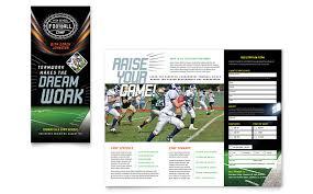 football flyer templates football brochure template football training brochure template
