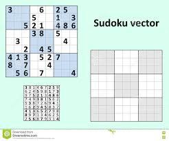 Symmetrical Sudoku Blank Template Stock Vector Illustration Of