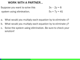 suppose you want to solve this 3x 2y 6