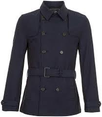 topman navy full length trench coat