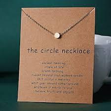 circle pendant gold charm necklace make