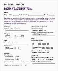 Sample Roommate Contract Roommate Agreement Contract Lovely Roomate Agreement Template Sample