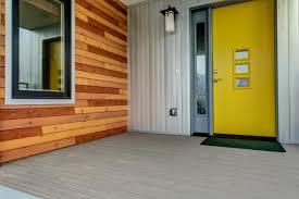 modern front door. Modern Exterior With Canary Yellow Front Door R
