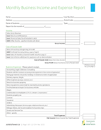 Monthly Income And Expenses Monthly Income And Expense Report Templates At