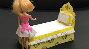 barbie furniture diy. DIY Barbie Doll Bed : How To Furniture House Diy