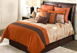 orange and brown bedding. Interesting Brown Fall Comforter Sets Set For Orange Brown Leaves Throughout And Bedding T