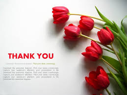 Ppt Flowers Thank You Slide With Flowers Powerpoint Slides Powerpoint
