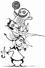 Small Picture Coloring Pages Free Printable Nightmare Before Christmas Coloring