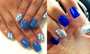 Decorative Nail Art Designs Blue nail polish designs Nail Art Styling 46