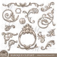 antique frame designs. Unique Frame BAROQUE ORNAMENTS Clipart Digital Clip Art Instant Download Vintage  Antique Design Elements Frame Borders From MNINEDESIGNS On Etsy Studio To Designs