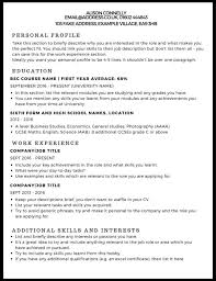 Free Example Resume Enchanting Cv Example Studentjob Uk How To Make A Good R Sevte