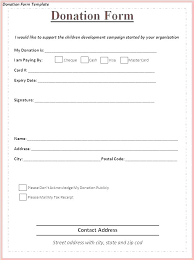 Fundraising Order Form Templates Fundraising Form Template Donation Pledge Card Samples