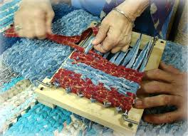home design vanity rag rug weaving on twining loom for making rugs our old country