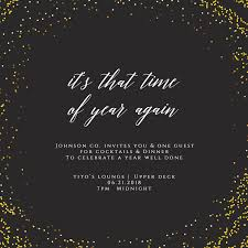 Event Invitations Templates Free Golden Event Cocktail Party Invitation Template Free