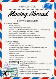 International Move Checklist 60 To 30days Prior To Moving