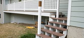 installing an aluminum porch railing in