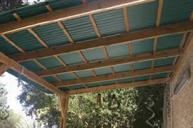 the underside of suntuf garden roofing by vicwest building s