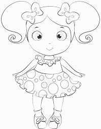Small Picture doll coloring pages for kids