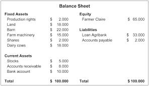 Basic Economics Balance Sheet