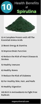 10 Health Benefits Of Spirulina Nutrition Facts Side